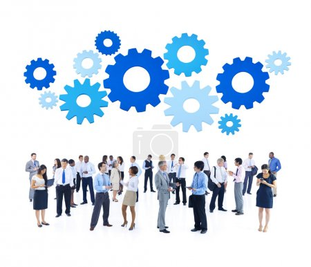 Business People and gears