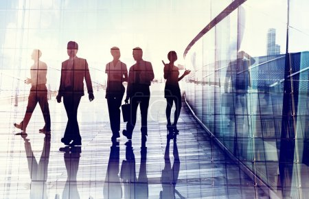 Business People Walking in Office