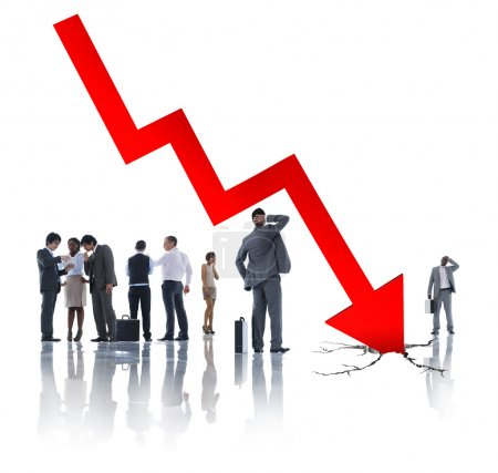 Business People and Economic Crisis sign