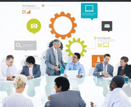 Business people Having Presentation