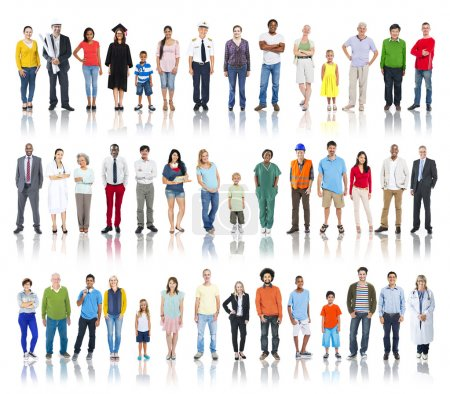 Photo for Multi-Ethnic Group of People with Different Professional Occupation - Royalty Free Image