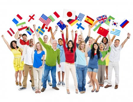 People Holding different Flags