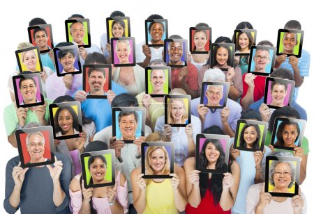People holding tablets