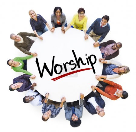 People and Worship Concept