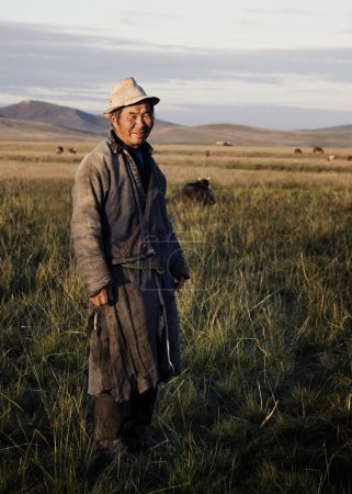 Mongolian milking man