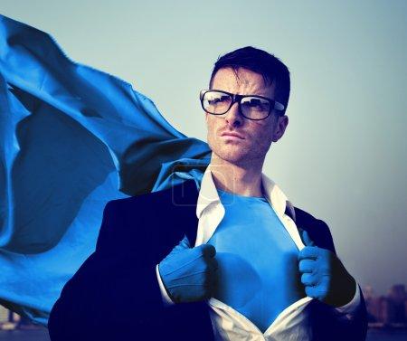 Superhero Businessman Transforming