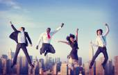 Business People celebrating Success