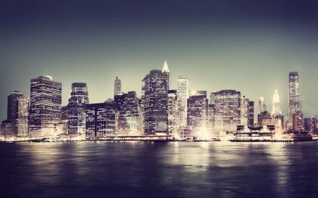 Photo for New York City Panorama at Night - Royalty Free Image