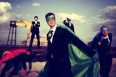 Business People Superheroes