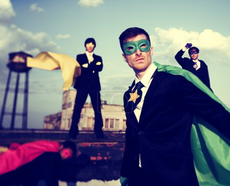 Business People Superheroes