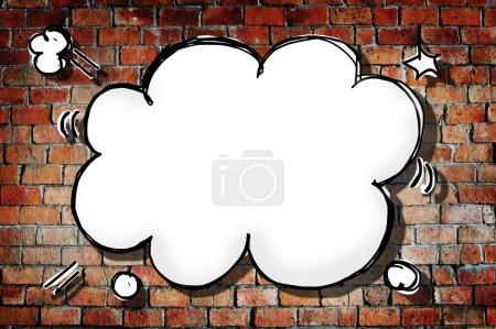 Cloud Shape Speech Bubble