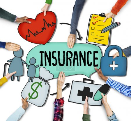 Hands Holding Insurance Text