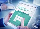 Muž s on-line registrace