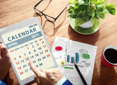 Man looking at Calendar