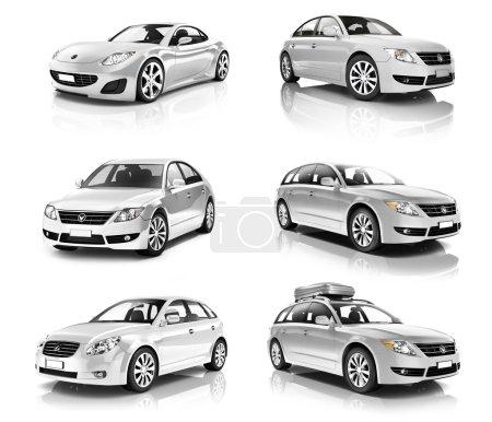 Luxury Silver Sport Cars
