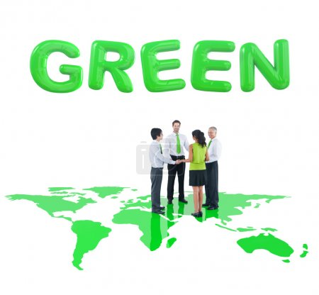 Business People and Environmental Conservation Concept