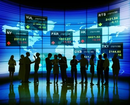Business People and Stock Exchange