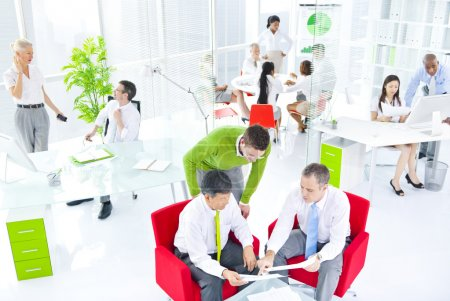 People in Green Business Office