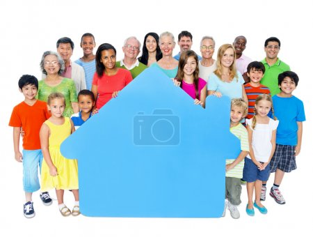 People Holding Home Symbol