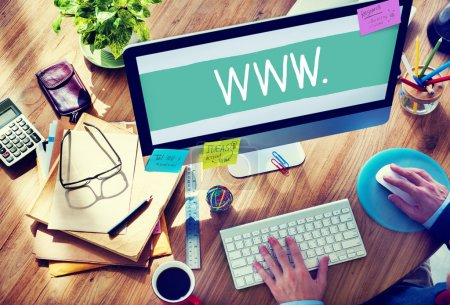 Man Working on  Web Design