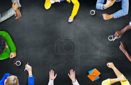 Diverse Multiethnic People Brainstorming