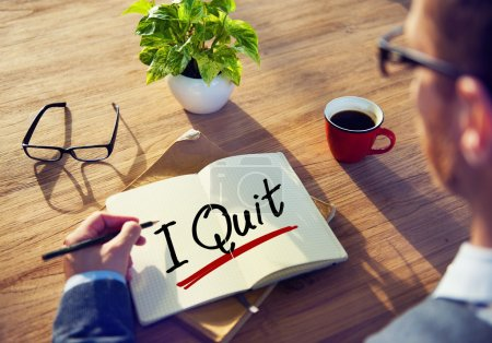 Man Brainstorming about I Quit