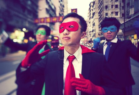 Chinese Ethnicity Business Superheroes