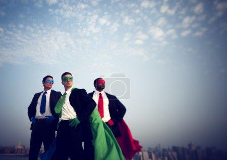 Superhero Businessmen in New York