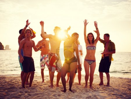 People party on beach