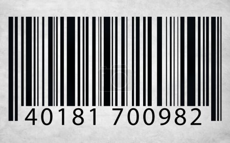 white and black Barcode