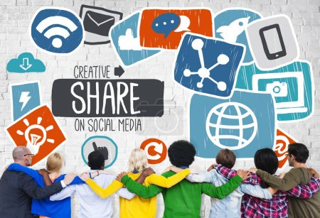 concept of creative share in social media