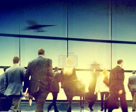 Business People Walking in Airport
