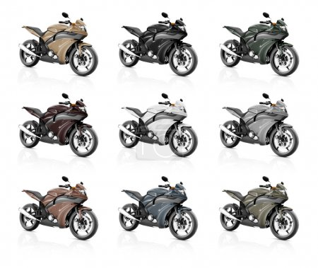 Modern luxury motorcycles