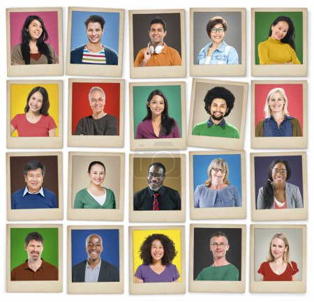 Portraits of multi ethnic people