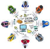 Rozdílní lidé sociální síť