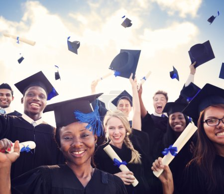 Photo for Students celebrate graduation - Royalty Free Image