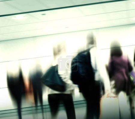Casual People in Rush Hour Walking