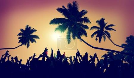 Music concert on the beach