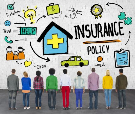 Diverse people and Insurance Policy