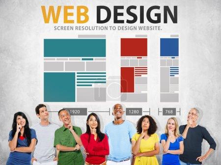 Web Design Network Concept