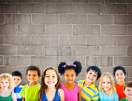 Background with group of children