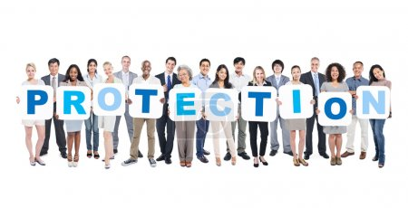 Word Protection and Business People, Teamwork, Suc...