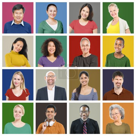 Diversity of people Faces,  Portrait, Community
