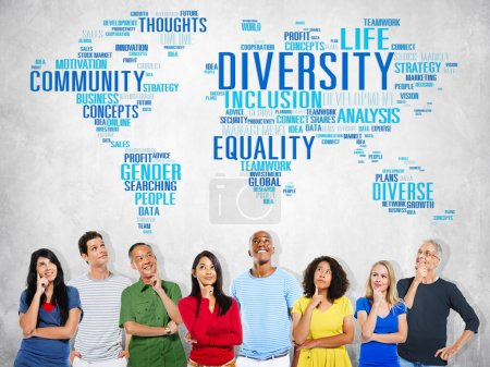 group of people thinking and Diversity Community