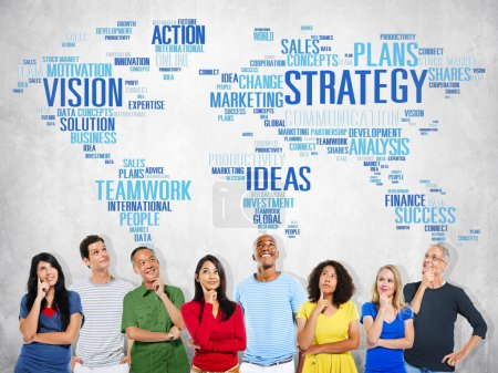 Diverse people and Strategy Concept
