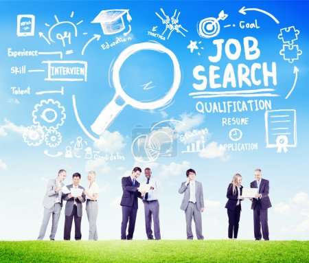 Business People Discussion Job Search