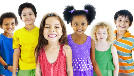 Group of Multiethnic children
