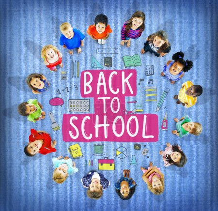 Back to school Concept with group of children