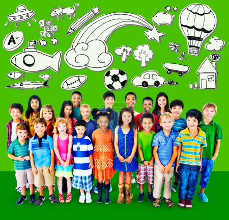 Hobby Concept with group of children