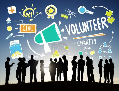 Business people and Volunteer concept